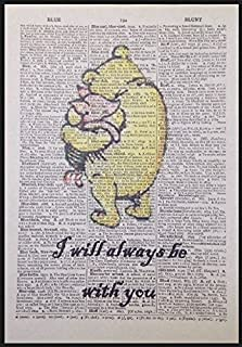 Parksmoonprints Winnie The Pooh Quote Print Vintage Dictionary Page Picture Wall Art Piglet Love