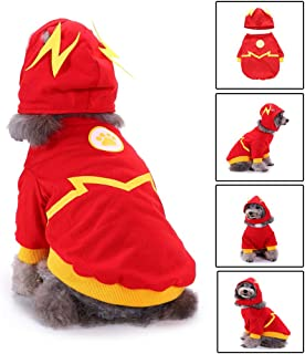 Glumes Flash Pattern Dog Pet Costume for Dogs Outfit Dog Vest for Halloween Day Pet Costume