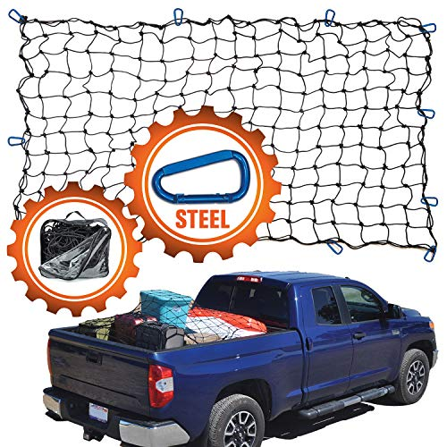 """4#039x6#039 Super Duty Truck Cargo Net for Pickup Truck Bed Stretches to 8#039x12#039 