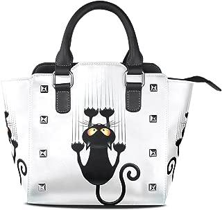 XinMing Powder Ink Watercolor Girl Round Crossbody Shoulder Bags Adjustable Top Handle Bags Satchel for Women