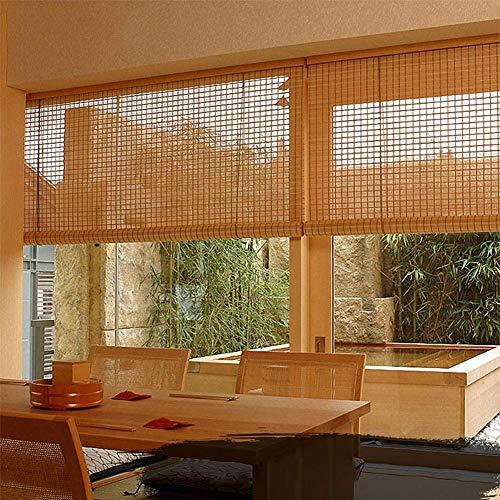 LY88 Persianas enrollables de bambú para Interiores, persianas enrollables para Balcones Interiores para la decoración del hogar de la partición de la Sala de té, 80/100/120/130/140 cm de Ancho (