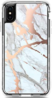 Coolwee iPhone Xs Max Case Marble Full Protection Hybrid 3 in 1 Heavy Duty Rugged Shockproof Case Girl Women Men Clear Transparent Bumper Hard Shell for Apple iPhone Xs Max 6.5 inch Rose Gold Marble