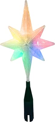 Brite Star 42-474-00 Traditional Battery Operated LED Frosty Swirl Tree Topper, Mini