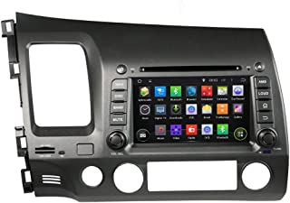 KUNFINE Android 8.0 Otca Core Car DVD GPS Navigation Multimedia Player Car Stereo for Honda Left Driving Civic 2006 2007 2008 2009 2010 2011 Steering Wheel Control 3G WiFi Bluetooth Free Map Update