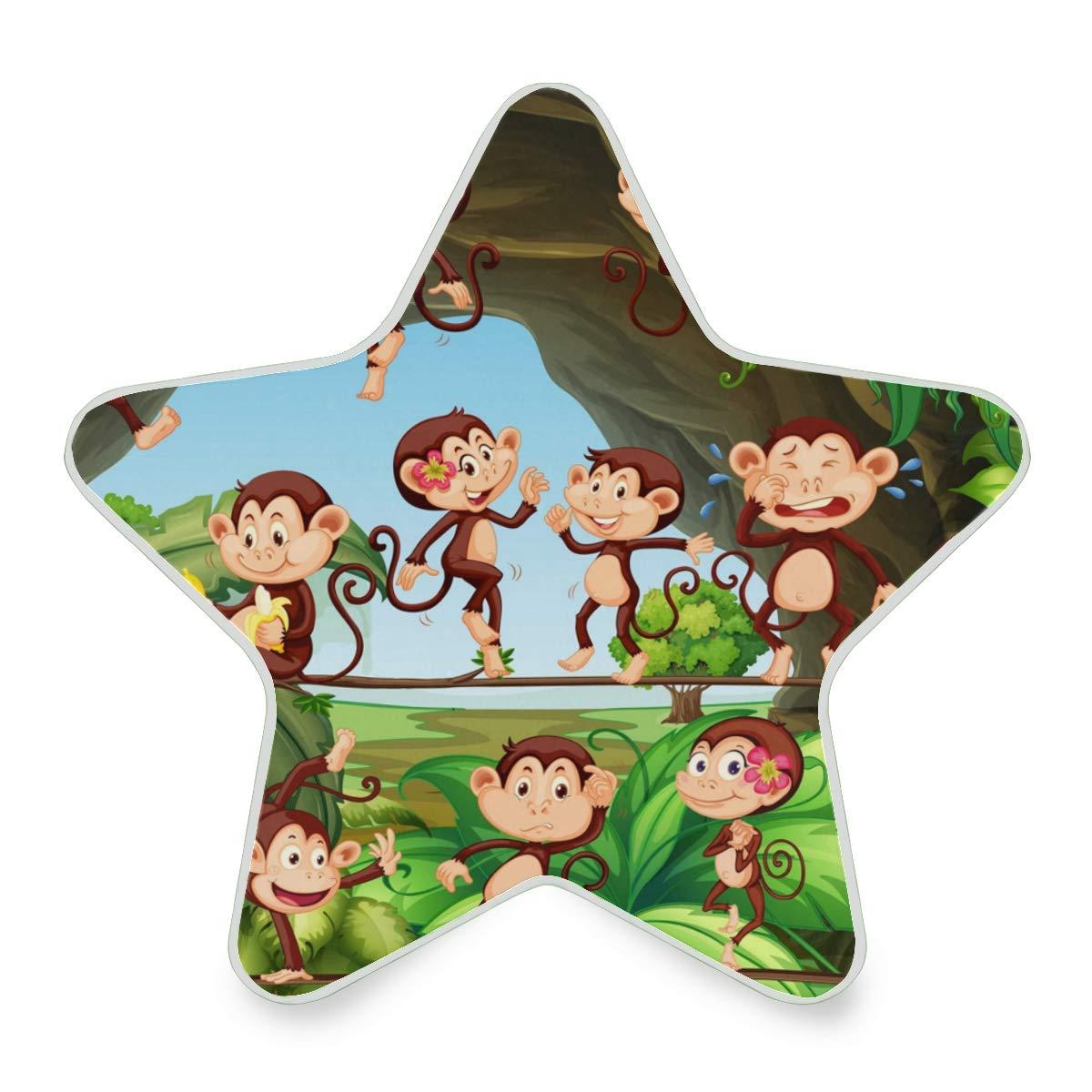 Linomo Star 5 New Free Shipping ☆ popular Shaped LED Night Light Animal Cute Auto Lamp Monkey