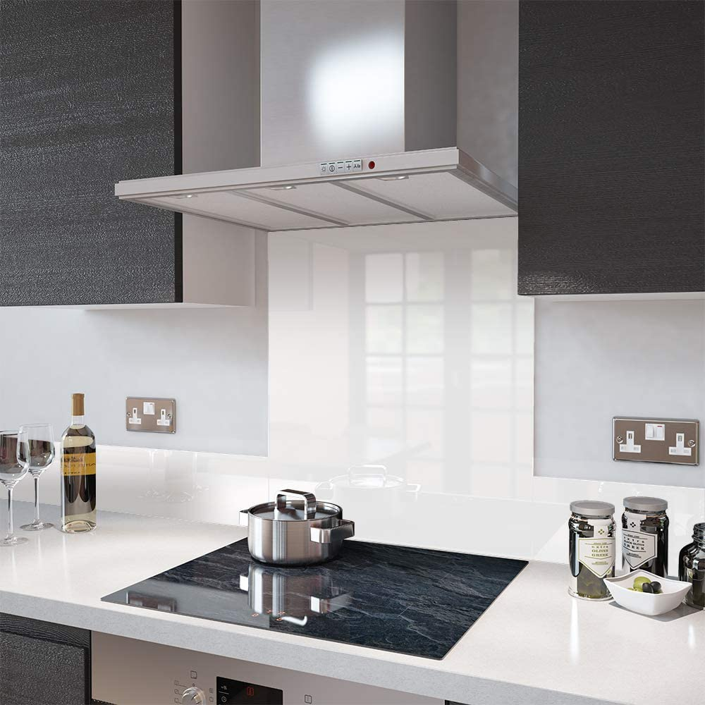 Glass Splashbacks High Gloss White   Made by Premier Range in 9cm Wide x  9cm High