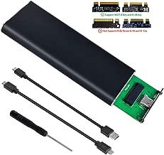 M.2 SSD Enclosure to USB 3.1 Cable Type C 10Gbps UASP,Portable Case Support NGFF M.2 SATA-Based B Key/B+M Key Drive 2230 2242 2260 2280