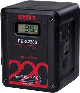 SWIT PB-S220S シネカメラに最適 マルチ出力角形リチウムイオンVマウントバッテリー D-tapx4/USBx1出力付き