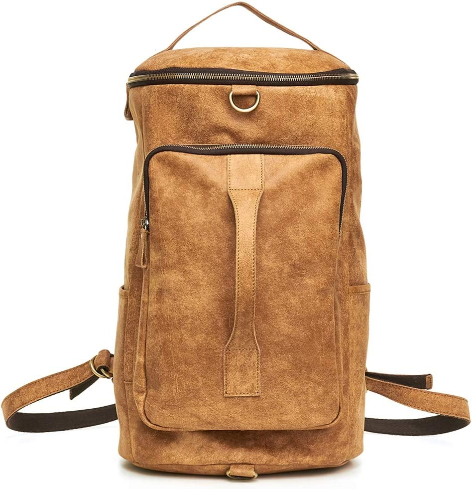 Vintage Leather Backpack mens Laptop Large New product!! Daypack Direct stock discount Capa
