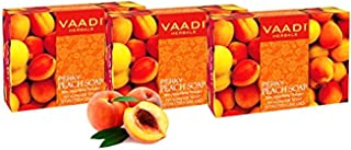 Vaadi Herbals Perky Peach Soap with Almomd Oil, 3 x 75g