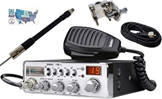 Uniden PC68LTX Radio and Accessory Bundle - 5 Items - Includes Uniden PC68LTX CB Radio with Shark Antennas 36' Base Loaded CB Antenna, Mirror Mount, 12' Coax and Ham Guides TM Quick Reference Card