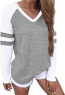 YOINS Dames T-shirt, zomer, sexy, korte mouwen, ronde hals, top