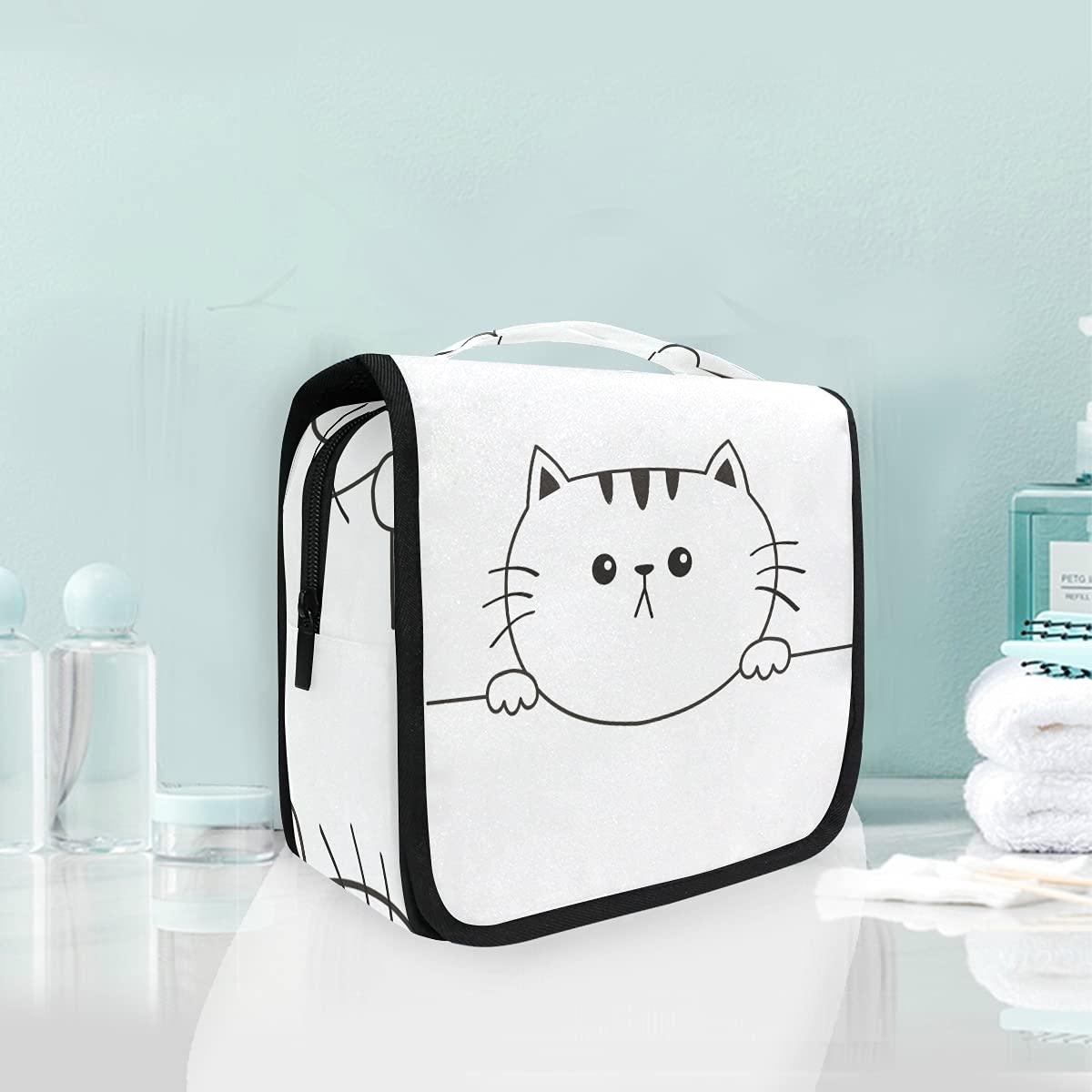 Hanging Ranking TOP12 Travel Toiletry Bag quality assurance 77 Cat Kit Sad Head Makeup Case Face