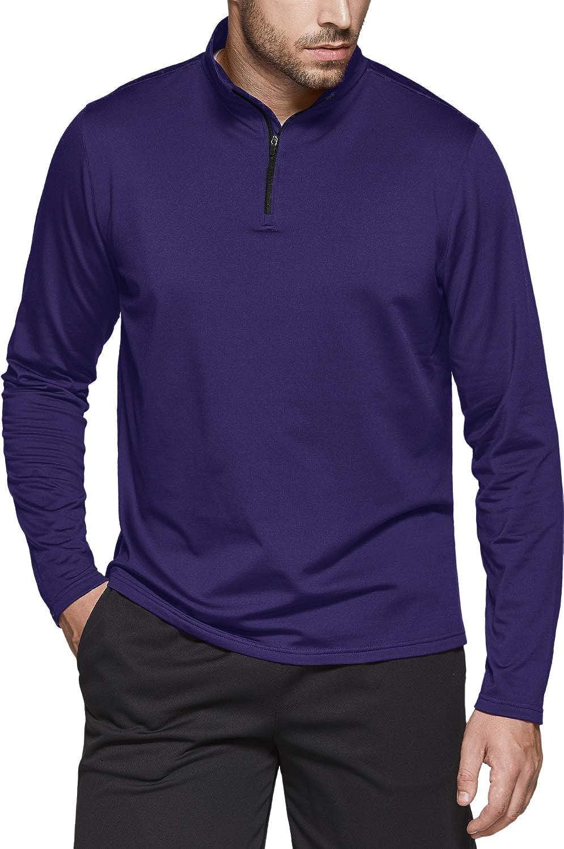 TSLA Men's Inexpensive Quarter Zip Thermal Pullover Winter Shirts Fleece Li Phoenix Mall