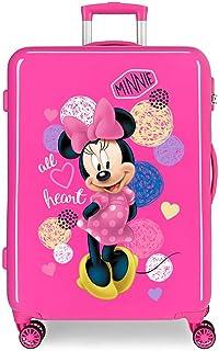 Disney Love Minnie Maleta Mediana Rosa 48x68x26 cms Rígida ABS Cierre combinación 70L 3,7Kgs 4 Ruedas Dobles