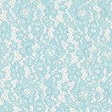 Fabulous Fabrics Spitze hellblau, Blume, 146cm breit –