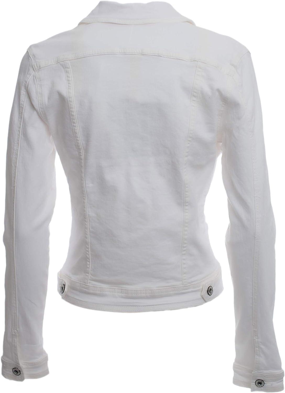 Chaqueta vaquera de mujer corta de algod/ón ligero con bolsillos y botones c/ód. V996 JOPHY /& CO