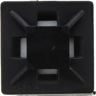 sourcingmap/® 30Stk Schwarz Plastikschraube Halterungen S/ättel Sockel Kabelbinderhalterhalter de