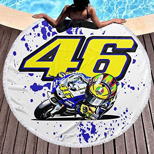Valentino Rossi VR46 - Toalla de playa de microfibra para viajes, piscina, natación, toalla de baño
