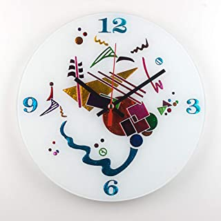 Sandro Moro Vetro Design Reloj de pared Kandinskji Time 2