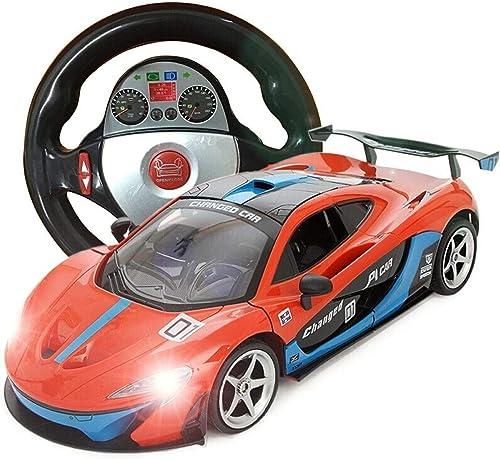 PETRLOY RC Hochgeschwindigkeitsauto mit Schwerkraftsensor Rot Interessantes Kinderspielzeugauto Elektronische Fernbedienung Ma ab 1 18 2,4 GHz RC fürzeuge Ein Knopf  net Drifüracing Geschenk für