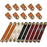 Bememo 20 Stücke Leder Kabelbinder Kabel Organizer Kabel Management Kopfhörer Wrap Winder für USB...