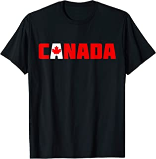 Canada | Voyage souvenir de la feuille du drapeau canadien T-Shirt