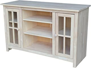 International Concepts TV Stand with 2 Doors and Two Shelf