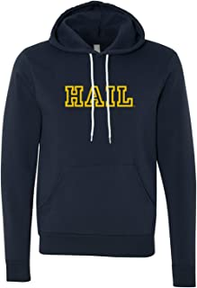University of Michigan Wolverines Hail Outline Canvas Pullover Hoodie