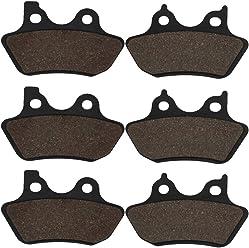 Cyleto Front Rear Brake Pads for Yamaha YFM660R YFM660 YFM 660 Raptor YFM350R YFM350 YFM 350 Raptor Honda Fourtrax TRX 250 300 400 Sportrax 400 ATV FA84