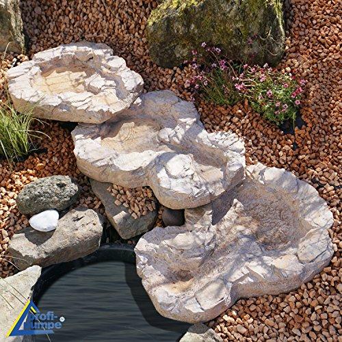 Gartenbrunnen Brunnen Bachlauf QUELLBACH Zierbrunnen Vogelbad Wasserfall Gartenleuchte Teichpumpe - Springbrunnen Wasserspiel für Garten, Gartenteich, Terrasse, Teich