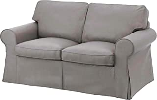 The Cotton Sofa Cover is 2 Seat Sofa Slipcover Replacement. It Fits Pottery Barn PB Basic Loveseat Sofa (Light Gray Cotton)