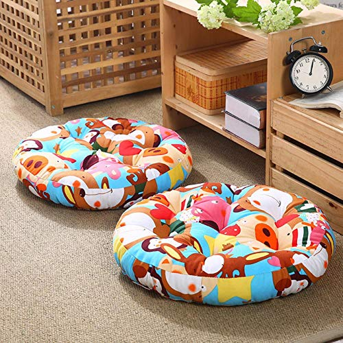 WTMLK 1Pcs Round Shape Floor Seat Cushion Soft Cotton Core Cotton Tatami Cushion Pillow Home Decoration Car Soft Sofa Cushion,H11,55x55x10cm
