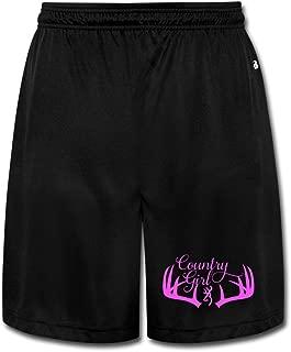 Fashion Redneck Girl Short Workout Pants For Mens Black