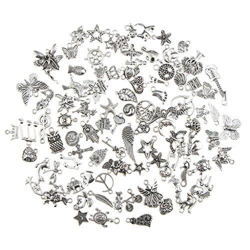 Gazechimp 100 Stücke Antike Silber Gemischte Stil Anhänger Schmuck Erkenntnisse Diy Handwerk