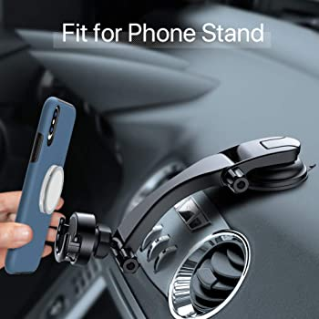Miracase Car Phone Mount, Magnetic &Phone Stand 2 in 1 Multifunction Dashboard&Windshield Universal 360 Degrees Adjus...