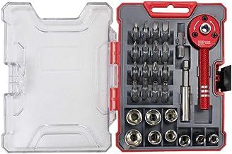 28PCS/set Drive Mini Ratcheting Screwdriver Set Socket Set Hand Tool Stainless Steel Socket Set