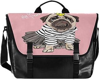 Bolso de lona para hombre y mujer, diseño de rayas, color rosa