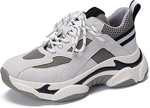 Aegilmcii Papa Chaussures Femmes Sports Moche épais Bas Casual Chaussures de Course