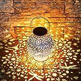 KOOPER LED Solar laterne für Außen, Vintage Metall Solarlampen für Außen Warmweiß, IP65 Wasserdicht Hängend Garten Deko Solarleuchten für Weihnachten Veranda Rasen Hof Auffahrt