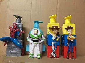 Dhl 4 Estilo Toy Story baño años luz Botellas Baño Hu Di Tracy Historieta del Hombre araña Liquid Hand Sanitizer