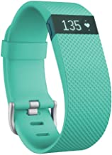 Fitbit Charge HR Wireless Activity and Fitness Tracker Wristband with Heart Rate Monitor, Teal, Large (6.2-7.6 Inch) (Non-Retail Packaging)