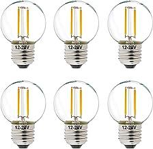 DC AC 12 Volt 24 Volt Light Bulb LED 1W 12V-24V Low Voltage Filament Edison Bulbs Warm White 2700K E26 Replace 10W for RV,...