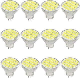 Jenyolon MR11 GU4 LED Bulb Light Lights Super White 3W, DC/AC 12V, 30W Halogen Bulb Equivalent, 400 Lumens, 6000K, 120° Beam Angle, Kit, Landscape Bulb, LED Replacement,12 Pack …