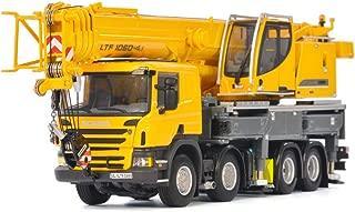 Liebherr LTF 1060-4.1 Truck Mounted Telescopic Crane Yellow WSI Premium Line 1/50 Diecast Model by WSI Models 04-1169