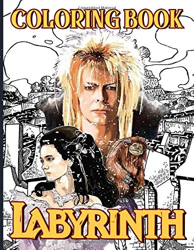 Labyrinth 80s Movie Coloring Book for Kids and Adults, Paperback (66 pages)