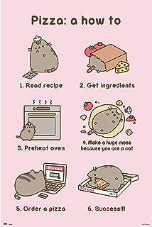 Close Up Póster Pusheen The Cat - Pizza: A How To [Recipe] (61cm x 91,5cm) + Embalaje para Regalo