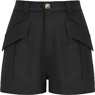 GRACE KARIN Women's Elastic High Waist Shorts Summer Casual Shorts with Pockets