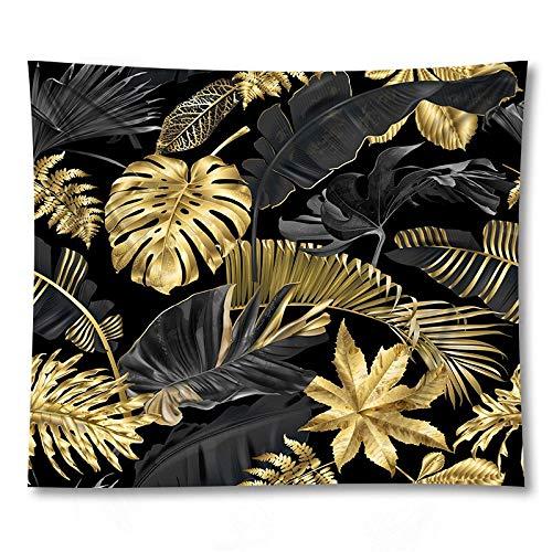 PPOU Tapiz de Hoja Verde Sala de Estar Dormitorio Planta Tropical impresión Colgante de Pared Tapiz Decorativo Boho Tela de Fondo A9 180x200cm