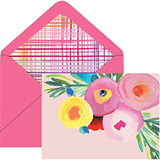 The Gift Wrap Company Floral-Themed Boxed Notecards, 6 x 4.5-Inches, Playful Posies